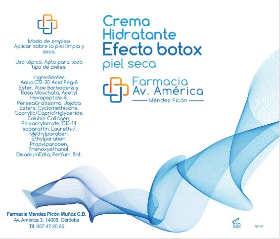 Crema hidratante efecto botox